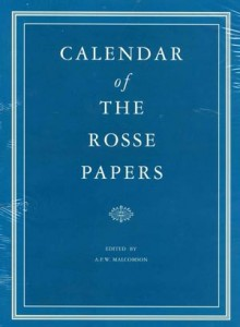 Calendar of the Rosse papers  1