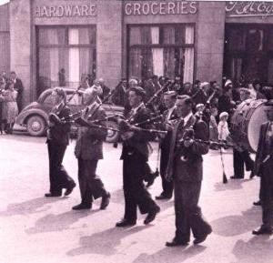 Pipe Band, Kilcormac -  1953 1