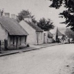 Street scene of Geashill Village - 1940s 1