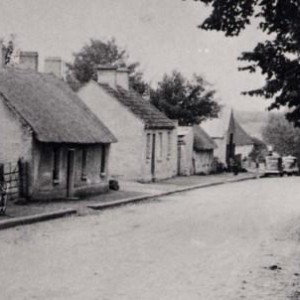 Street scene of Geashill Village - 1940s 1