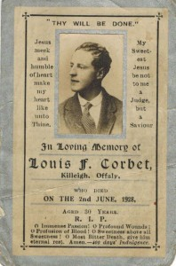 Memorials cards needed by Offaly History such as the enclosed
