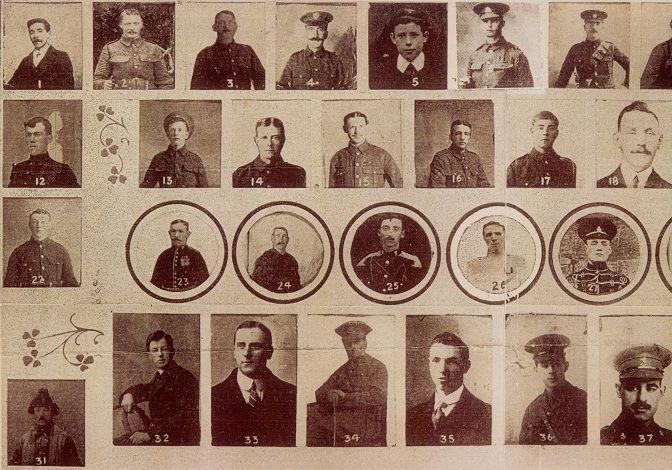 tullamore men at front roll of honour