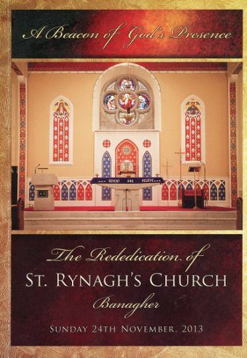 Banagher – The Rededication Of St.  Rynagh's Church – Jim Madden, Editor.